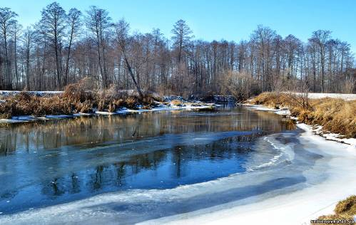 річка Ревна у очікуванні весняної повені. Фото М. Волка
